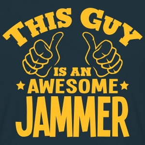 this guy is an awesome jammer - T-shirt Homme