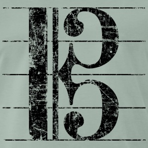 Old key, Viola key, Sheet music key T-Shirts - Men's Premium T-Shirt