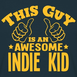 this guy is an awesome indie kid - Men's T-Shirt