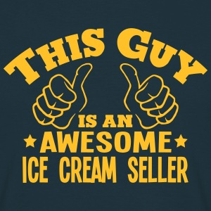 this guy is an awesome ice cream seller - Men's T-Shirt