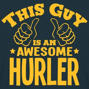this guy is an awesome hurler - T-shirt Homme