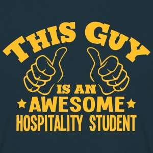 this guy is an awesome hospitality stude - Men's T-Shirt