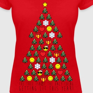 Smiley World Sapin De Noël Citation - T-shirt col V Femme