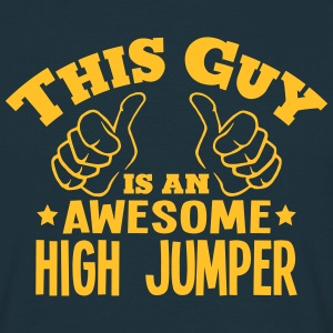 this guy is an awesome high jumper - T-shirt Homme