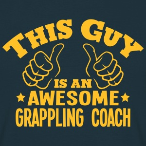 this guy is an awesome grappling coach - Men's T-Shirt