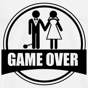 Game over - Stag do - Hen party - Funny T-skjorter - Premium T-skjorte for menn