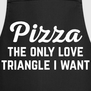 Pizza Love Triangle Funny Quote Delantales - Delantal de cocina