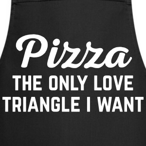 Pizza Love Triangle Funny Quote Forklæder - Forklæde