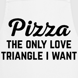 Pizza Love Triangle Funny Quote Kookschorten - Keukenschort