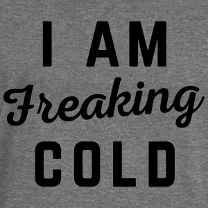 Freaking Cold Funny Quote Hoodies & Sweatshirts - Women's Boat Neck Long Sleeve Top