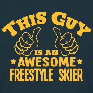this guy is an awesome freestyle skier - T-shirt Homme