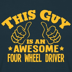 this guy is an awesome four wheel driver - Men's T-Shirt