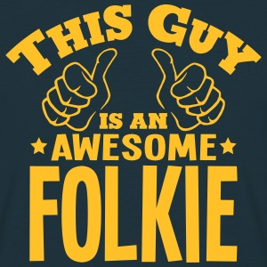 this guy is an awesome folkie - Men's T-Shirt