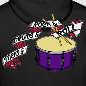 Sticks+Drums+Rock+Roll Part 1 - Männer Premium Hoodie