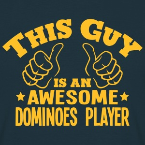 this guy is an awesome dominoes player - Men's T-Shirt