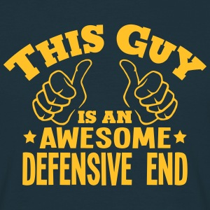this guy is an awesome defensive end - Men's T-Shirt