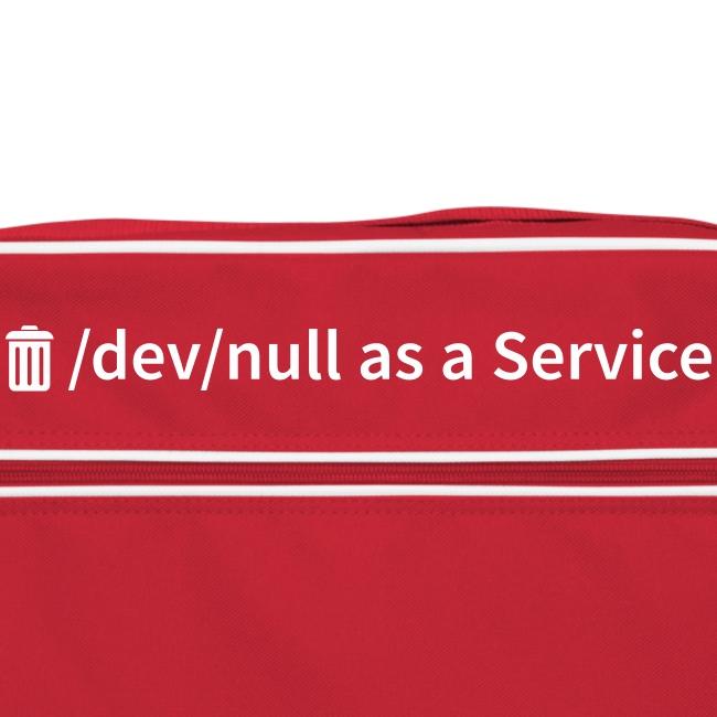 /dev/null as a Service - Retro Tasche