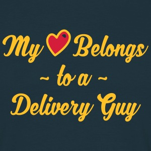 delivery guy my heart belongs to - Men's T-Shirt