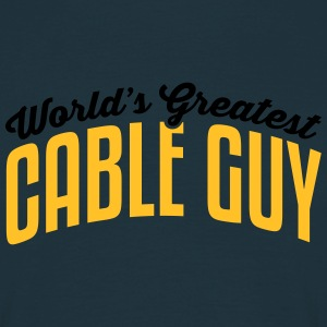 worlds greatest cable guy 2col - Men's T-Shirt