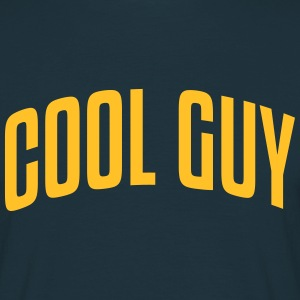 cool guy stylish arched text logo - Men's T-Shirt
