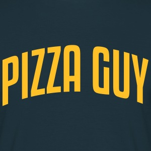 pizza guy stylish arched text logo - Men's T-Shirt