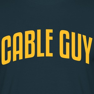 cable guy stylish arched text logo - Men's T-Shirt