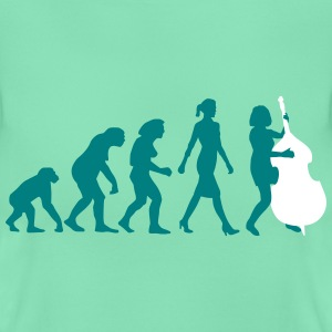 evolution_der_frau_bass_spielerin__c_2c T-Shirts - Frauen T-Shirt