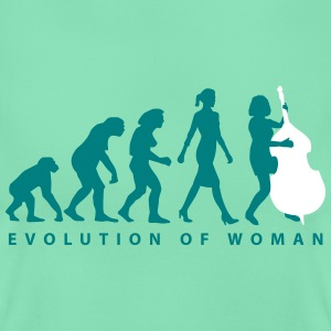 evolution_der_frau_bass_spielerin_a_2c T-Shirts - Frauen T-Shirt