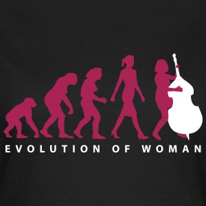 evolution_der_frau_bass_spielerin_b_2c T-Shirts - Frauen T-Shirt