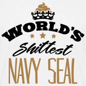 worlds shittest navy seal - Men's T-Shirt