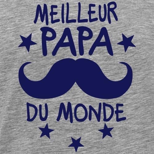 meilleur papa monde moustache etoile
