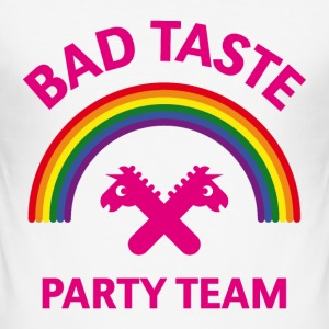 Bad Taste Party Team (Einhorn / Regenbogen) T-Shirts - Männer Slim Fit T-Shirt