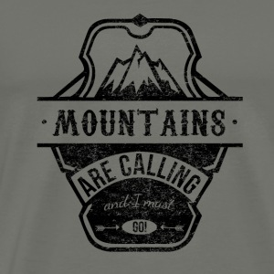 mountains are calling - schwarz T-Shirts - Männer Premium T-Shirt