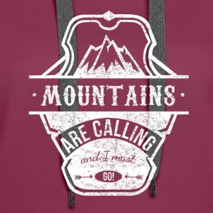 mountains are calling - weiss Pullover & Hoodies - Frauen Premium Hoodie