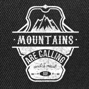 mountains are calling - weiss Caps & Mützen - Snapback Cap
