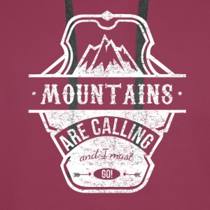 mountains are calling - weiss Pullover & Hoodies - Männer Premium Hoodie