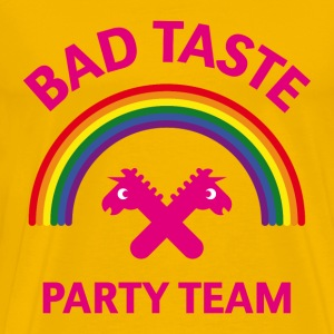 Bad Taste Party Team (Unicorn / Rainbow) T-Shirts - Men's Premium T-Shirt