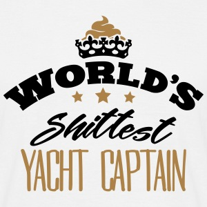 worlds shittest yacht captain - Men's T-Shirt