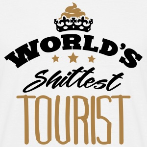 worlds shittest tourist - Men's T-Shirt