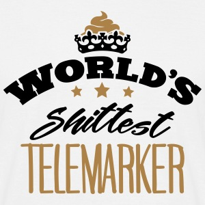 worlds shittest telemarker - Men's T-Shirt