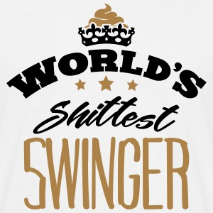 worlds shittest swinger - Men's T-Shirt