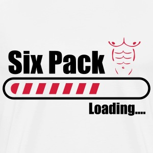 Six pack loading - Funny Gym - Men's Premium T-Shirt
