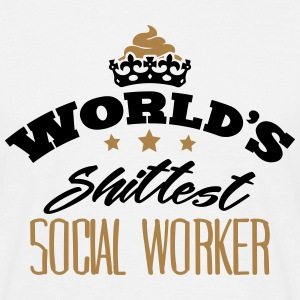 worlds shittest social worker - Men's T-Shirt