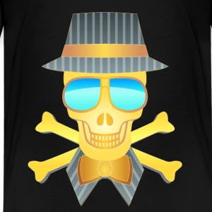 Golden skull - Teenage Premium T-Shirt