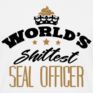 worlds shittest seal officer - Men's T-Shirt