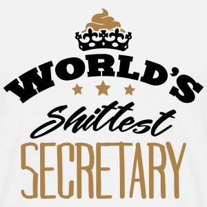 worlds shittest secretary - Men's T-Shirt