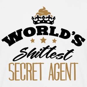 worlds shittest secret agent - Men's T-Shirt