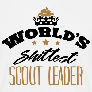 worlds shittest scout leader - T-shirt Homme