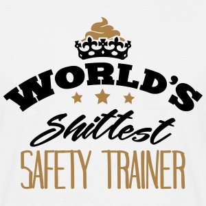 worlds shittest safety trainer - Men's T-Shirt
