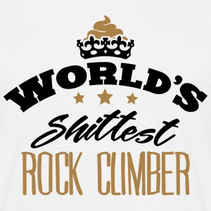 worlds shittest rock climber - Men's T-Shirt